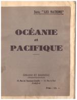 """SERIE """"LES NATIONS""""  OCEANIE ET PACIFIQUE    GIRARD ET BARRERE  PARIS 6 - - Carte Geographique"""