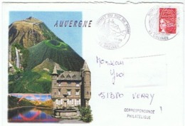 AUVERGNE - SOMMET DU PUY DE DOME - 63 ORCINES - Postmark Collection (Covers)