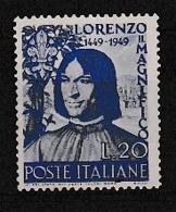 1949 Italia Italy Repubblica  LORENZO IL MAGNIFICO Serie  MNH** - 6. 1946-.. Republic