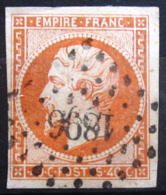 FRANCE                    N° 16                      OBLITERE - 1853-1860 Napoleon III