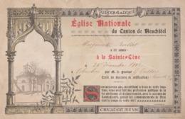 Neuchâtel, Eglise Nationale, La Sainte Cène 1902, Suisse. - Documents Historiques