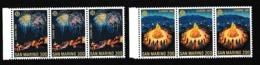 1981 San Marino Saint Marin EUROPA CEPT EUROPE 3 Serie Di 2 Valori Striscia MNH** FOLCLORE FOLKLORE - 1981