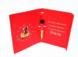 échantillons De Parfum  Tubes  YVRESSE De YVES SAINT LAURENT  EDT 2 Ml - Echantillons (tubes Sur Carte)