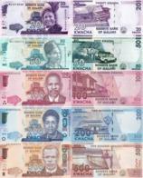 MALAWI Set (5v) 20 50 100 200 500 Kwacha 2017 - 2019 P 60, 63-66 UNC - Malawi