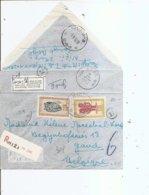Congo Belge ( Lettre Recommandée Par Avion De 1952 De Nizi Vers La Belgique à Voir) - Belgisch-Kongo