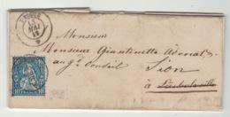 Suisse // Schweiz // Switzerland //  Helvétie Assise // Lettre Pour Sion Le 18.05.1863 (No. 31) - 1862-1881 Zittende Helvetia (getande)
