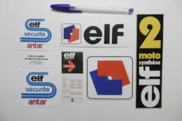 Autocollant Stickers - ELF ANTAR Marque Carburant Pétrochimie - 38410 URIAGE Ecole De Conduite - Lot De 6 Autocollants - Autocollants