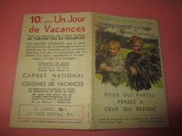 COMITE NATIONAL DES COLONIES DE VACANCES CARNET Pub Intérieur Loterie Nationale Et Menthe Ricklès - Vecchi Documenti