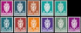 Norway Coat Of Arms (ph.) 1955-1973 ** Incomplete Set, 11v. - Francobolli
