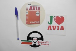 Autocollant Stickers - AVIA Marque Huile Carburant Pétrole - Ecole F3 LA CHÂTRE - Lot De 3 Autocollants - Stickers