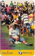 Fiji - Telecom Fiji - Rugby, Man In Hat, Cn.99021, Remote Mem. 3$, Used - Fidji
