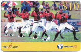 Fiji - Telecom Fiji - Rugby, Army Band, Cn.99024, Remote Mem. 10$, Mint - Figi