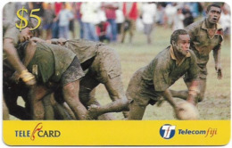 Fiji - Telecom Fiji - Naitafiri Rugby, Scrum Half, Cn.99048, Remote Mem. 5$, Used - Fidji