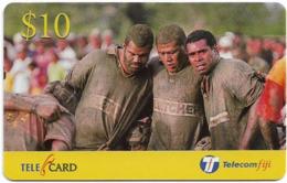 Fiji - Telecom Fiji - Naitafiri Rugby, Front Row, Cn.99049, Remote Mem. 10$, Mint - Fidschi