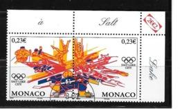 """Monaco;n°2336/2337 O (avec Gomme D'origine ,tampon De Monaco) """"Composition """" (sous Faciale) - Zonder Classificatie"""