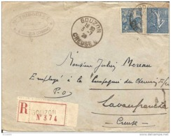 23 Gouzon ,Enveloppe, Notariale - 1921-1960: Periodo Moderno