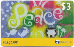 Fiji - Telecom Fiji - Culture Of Peace, Peace, Cn.99118, Remote Mem. 3$, Used - Figi
