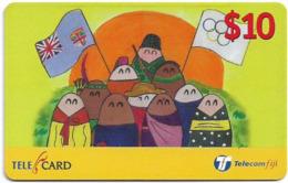 Fiji - Telecom Fiji - Culture Of Peace, Multiculture, Cn.99124, Remote Mem. 10$, Used - Fidji