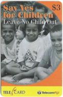 Fiji - Telecom Fiji - Unicef, Say Yes For Children, Cn.99182, Remote Mem. 3$, Used - Fidji