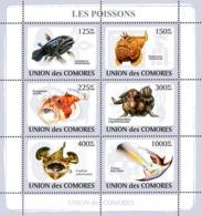 COMORES 2009 - Fishes. YT 1465-1470, Mi 2107-2112, Sc 1081 - Isole Comore (1975-...)