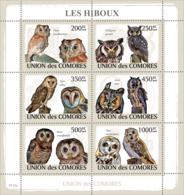 COMORES 2009 - Owls. YT 1477-1482, Mi 2191-2196, Sc 1087 - Komoren (1975-...)