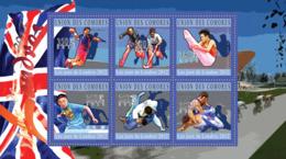 COMORES 2010 - London 2012 Olympic Games (Handball .. Lutte Libre). YT 2023-2028, Mi 2914-2919 - Comores (1975-...)