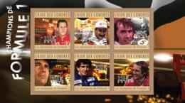 COMORES 2010 - Formula 1 Champions (M.Schumacher.. N.Lauda). YT 2047-2052, Mi 2789-2794 - Komoren (1975-...)