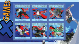 COMORES 2010 - X Games (Mikkel Bang.. Tucker Hibbert). YT 1981-1986, Mi 2754-2759 - Comoros
