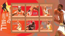 COMORES 2010 - Basketball (Michael Jordan... Magic Johnson). YT 2095-2100, Mi 2859-2864 - Isole Comore (1975-...)