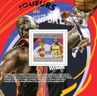 COMORES 2010 - Basketball (Magic Johnson). YT 288, Mi 2871/BL601 - Komoren (1975-...)