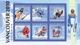 COMORES 2010 - Winter Games - Vancouver 2010 (Andreas Widhlotz.. Maya Pedersen). YT 2089-2094, Mi 2894-2899 - Komoren (1975-...)