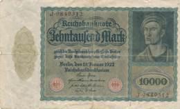 Numismatique -B3729 -Allemagne 10000 Mark 1922 ( Catégorie,  Nature état ... Scans)-Envoi Gratuit - [ 3] 1918-1933: Weimarrepubliek