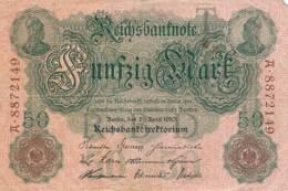 Numismatique -B3729 -Allemagne 50 Mark 1910 ( Catégorie,  Nature état ... Scans)-Envoi Gratuit - [ 2] 1871-1918 : Duitse Rijk