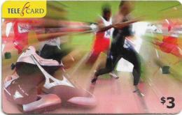 Fiji - Telecom Fiji - Sports, Running, Cn.06034, Remote Mem. 3$, Used - Fidji