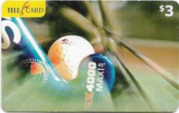 Fiji - Telecom Fiji - Sports, Hockey, Cn.060346, Remote Mem. 3$, Used - Figi
