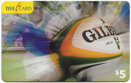 Fiji - Telecom Fiji - Sports, Rugby, Cn.060546, Remote Mem. 5$, Used - Figi