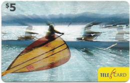 Fiji - Telecom Fiji - Sports, Rowing, Cn.060547, Remote Mem. 5$, Used - Fidji