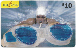 Fiji - Telecom Fiji - Sports, Swimming, Cn.061047, Remote Mem. 10$, Used - Fidji