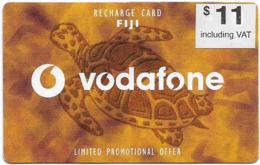 Fiji - Vodafone - Turtle, Cn.00180, White Value Sticker, No Vodafone Logo, GSM Refill 11$, Used - Fidji