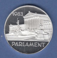 Österreich 500-Schilling Silbermünze 1983 Wien Parlament PP - Austria