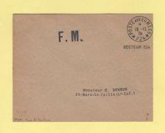 Poste Aux Armees 224 - Corps De Cavalerie - FM - 19-12-1939 - Marcophilie (Lettres)