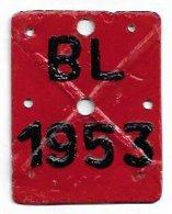 Velonummer Basel-Land BL 53 (Kreuz-Prägung) - Number Plates