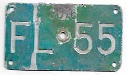 Velonummer Liechtenstein FL 55 - Plaques D'immatriculation