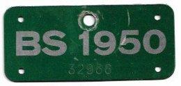 Velonummer Basel Stadt BS 50 - Plaques D'immatriculation