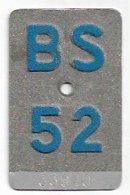Velonummer Basel Stadt BS 52 - Plaques D'immatriculation