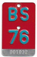 Velonummer Basel Stadt BS 76 - Plaques D'immatriculation