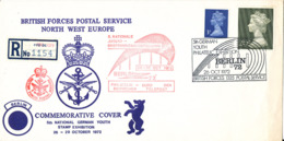 Great Britain Registered Cover British Forces Postal Service North West Europe Stampexhibition In Berlin 26-29/10-1972 - 1952-.... (Elizabeth II)