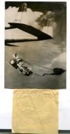 Photographie Agence Guerre De Corée Parachutage D'un Canon - War, Military