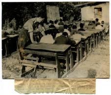 Photographie AGIP Guerre D'Algérie école En Kabylie - War, Military