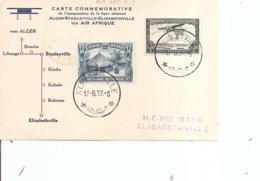 Congo Belge ( Commémoratif De 1937 De Stanleyville Vers Elisabethville à Voir) - 1923-44: Brieven